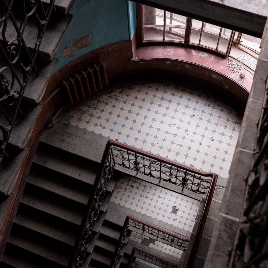 Stairwell of an old building